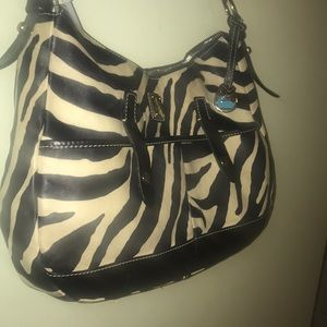 Dooney and Bourke Zebra Striped Shoulder Bag